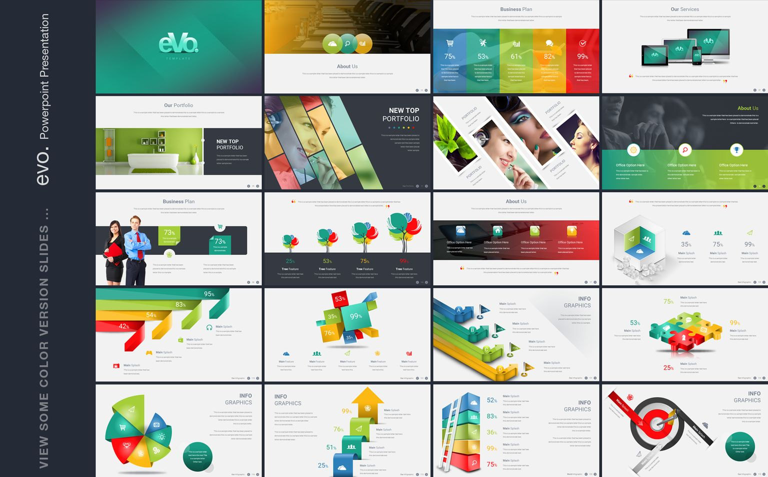 Business plan with 3d infographics powerpoint template 66204 business plan with 3d infographics powerpoint template big screenshot alramifo Images