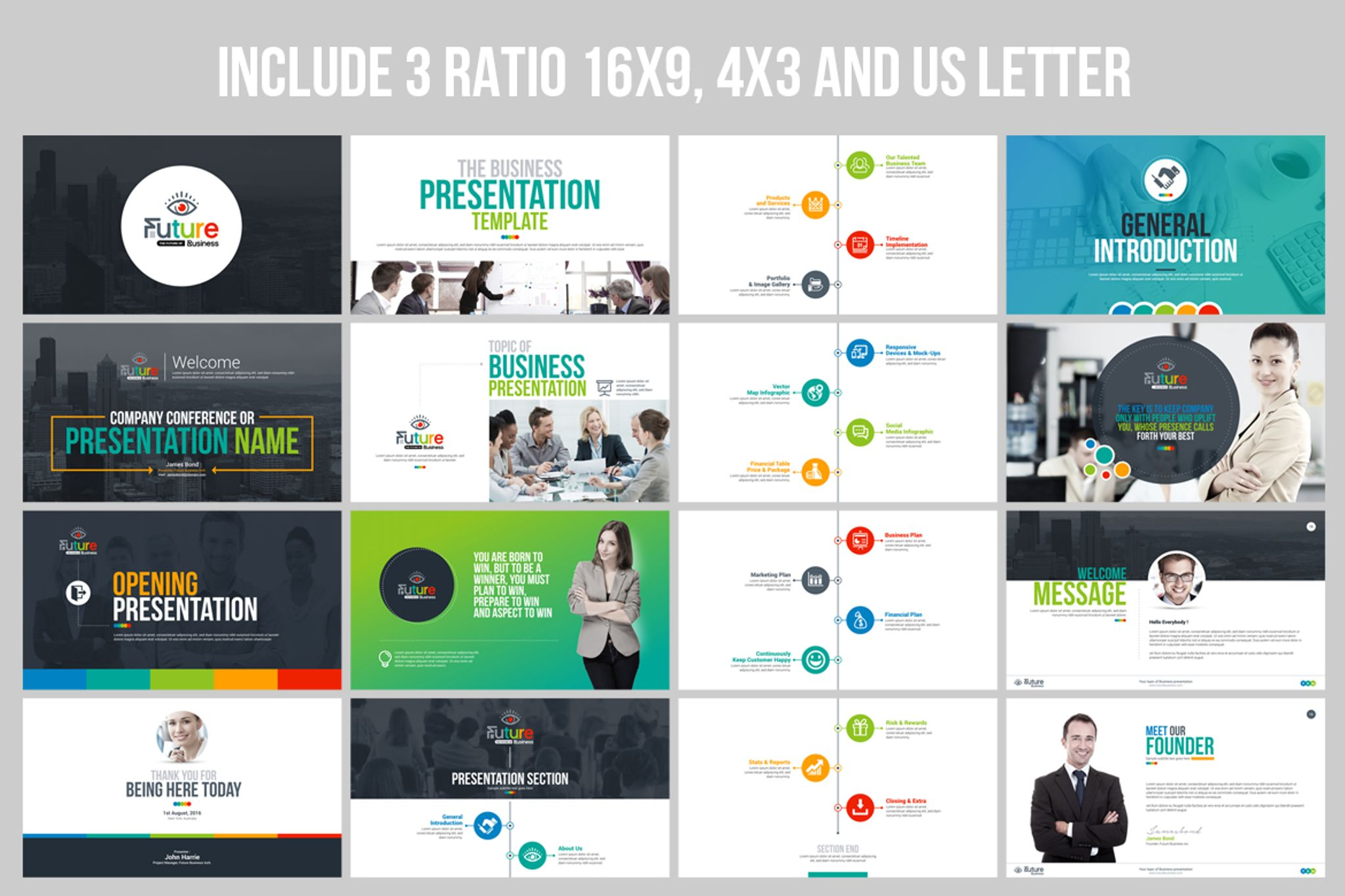 Business Plan Presentation Animated Pptx Infographic Design