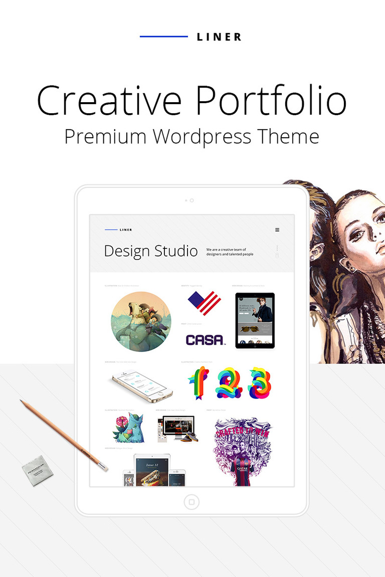 Liner - Creative Clean Portfolio WordPress Theme Big Screenshot