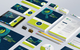 """Branding Stationery Bundle for SEO and Digital Marketing Agency or Company"" 企业设计模板"