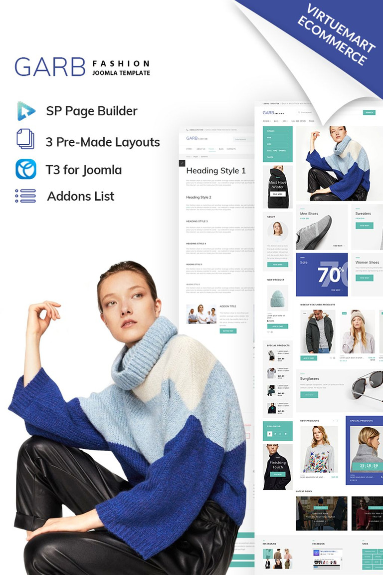 Garb Fashion Store Joomla Technology VirtueMart Template for YOUR WEB ONLINE STORE