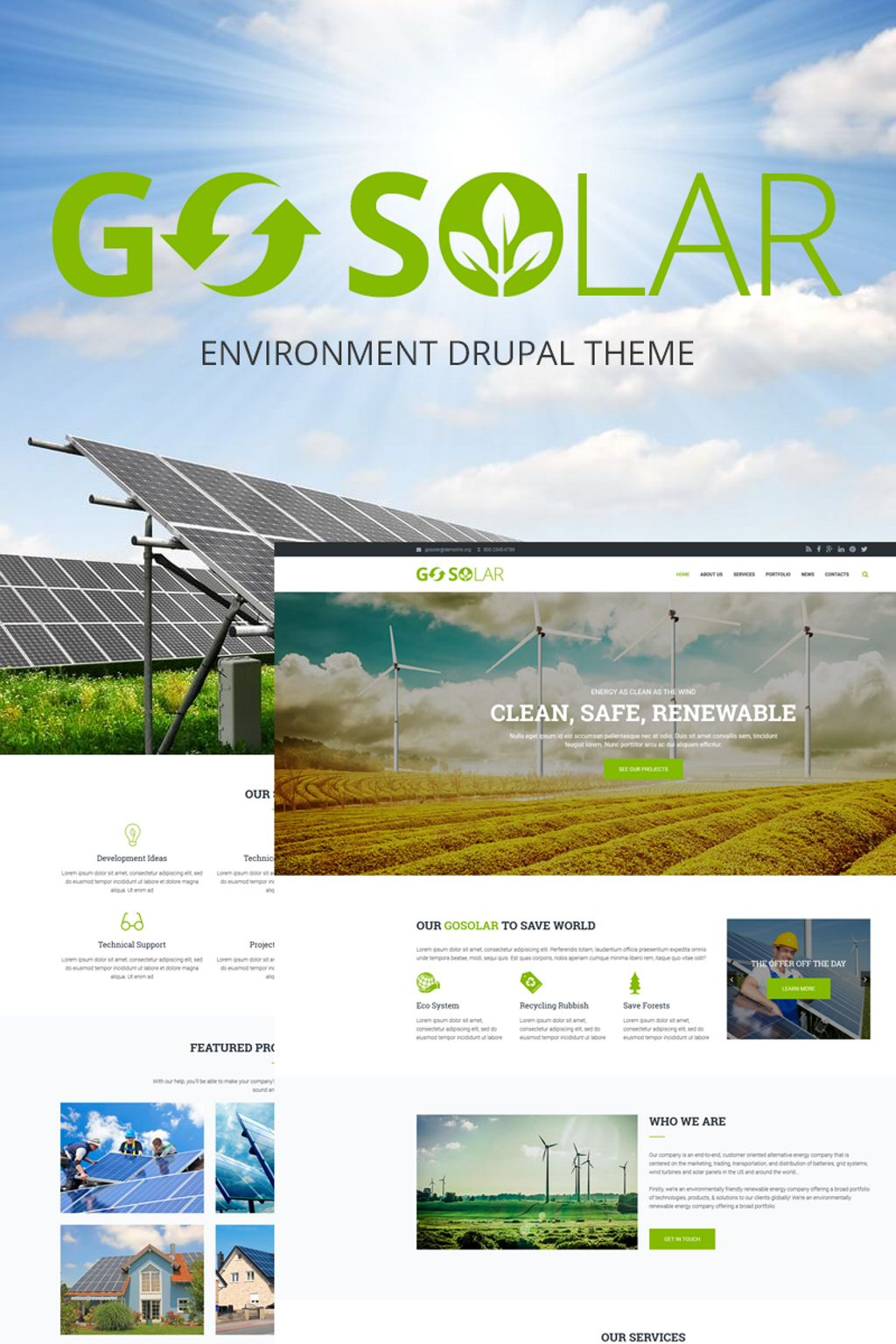 Go Solar - Eco & Nature / Environment Drupal Template