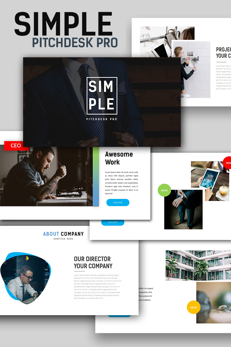 simple pitchdesk pro powerpoint template 66230
