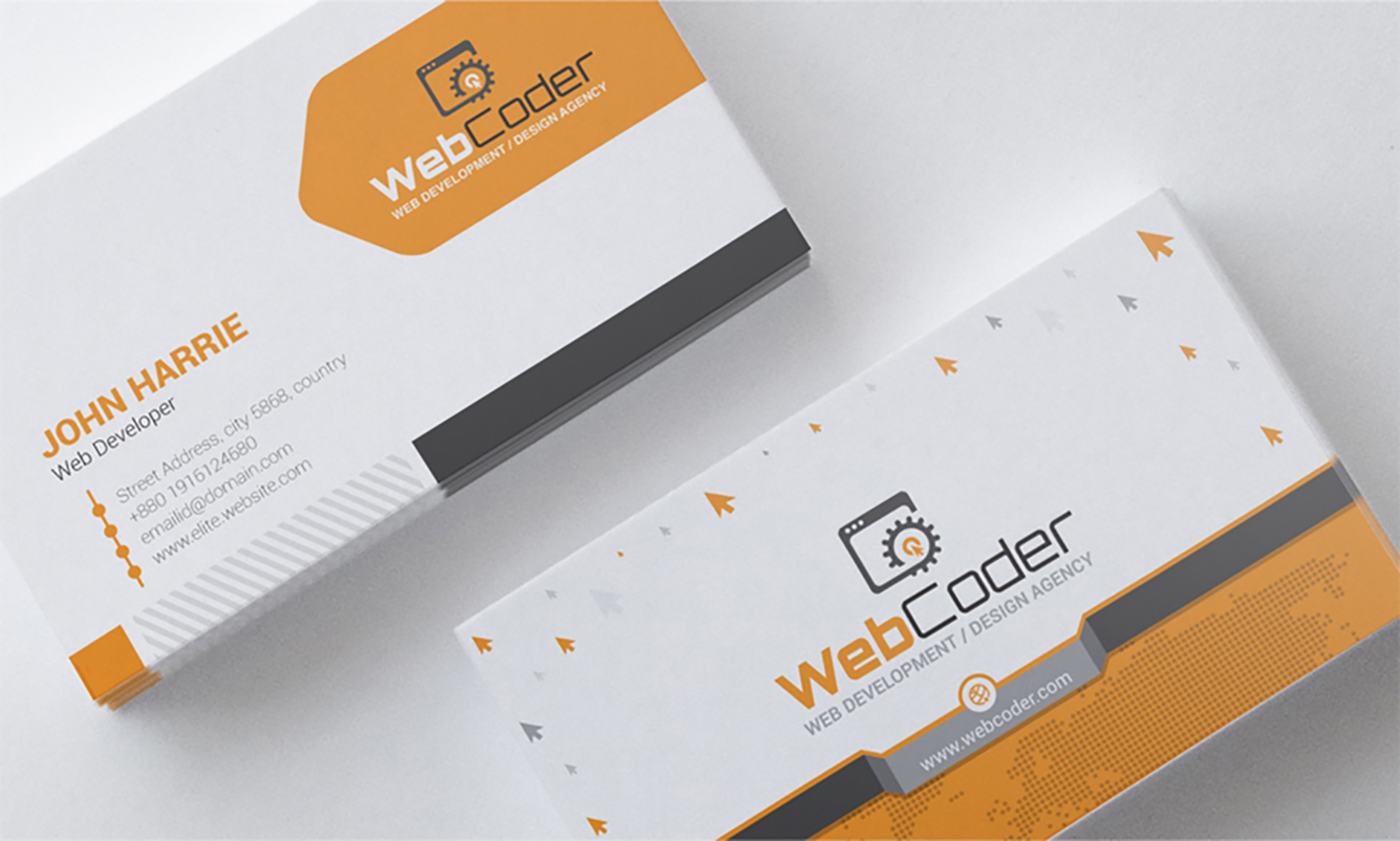 Business card design for web design and developer psd template 66306 business card design for web design and developer psd template big screenshot accmission Images