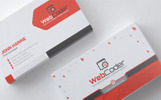 Business Card Design For Web Design And Developer PSD Template