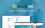 "Tema WordPress Responsive #66180 ""ElectrON - Maintenance Services Company"""