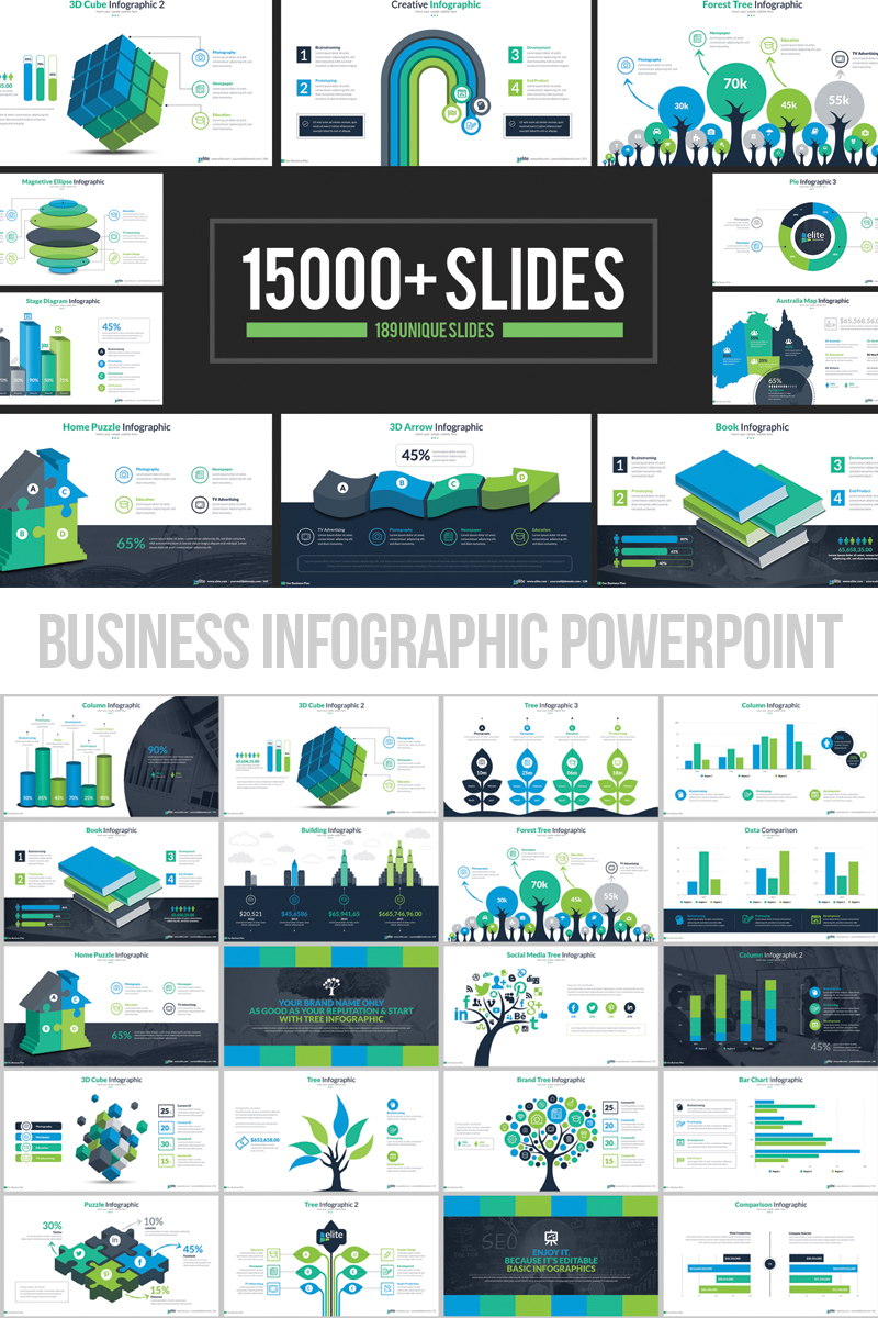 Business infographic presentation powerpoint template 66340 flashek Images