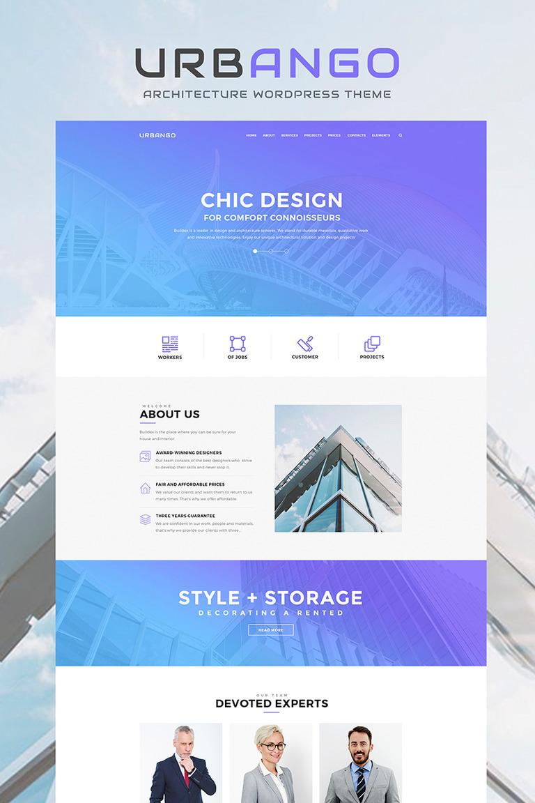 WordPress Theme #66201 für Baufirma