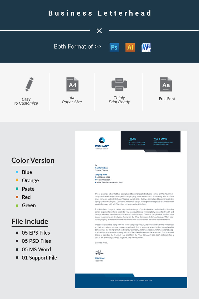 business letterhead corporate identity template #66244, Powerpoint templates
