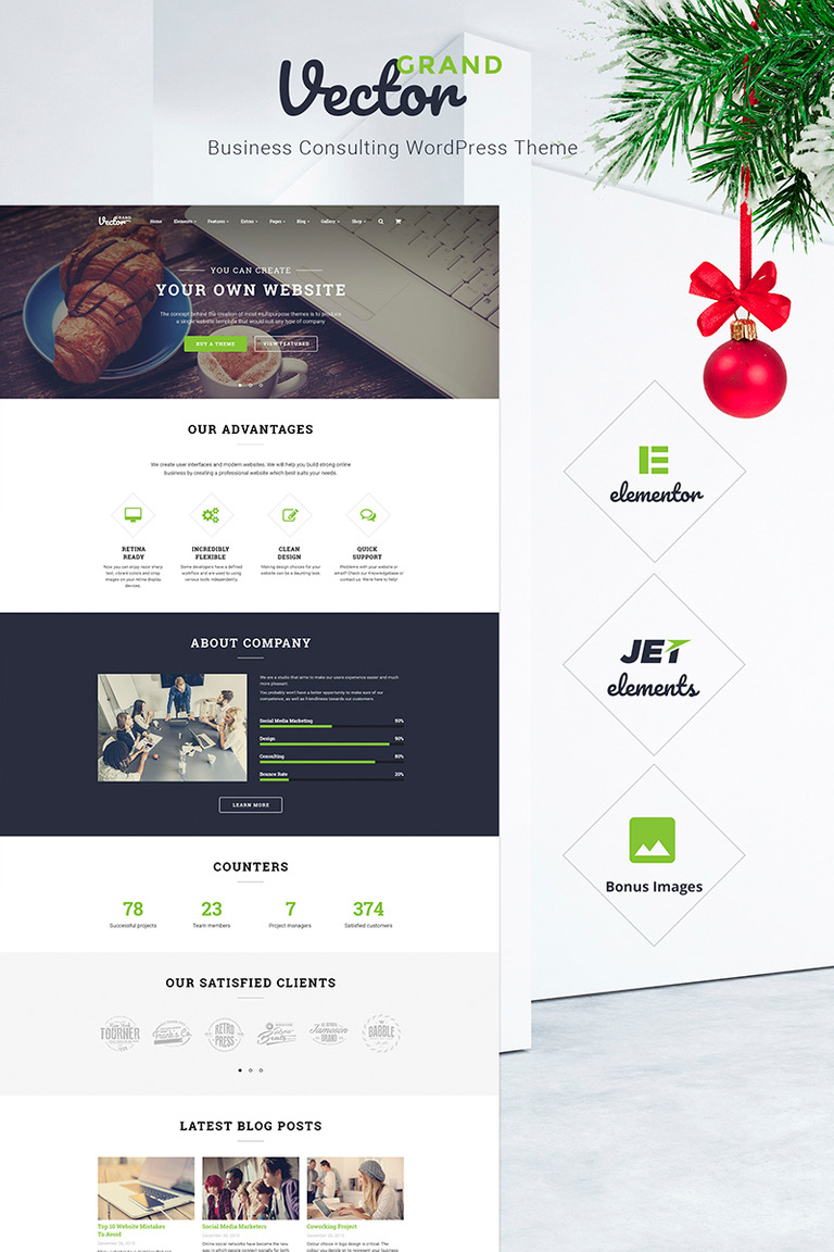 Grand Vector - Business Consulting WordPress Theme New Screenshots BIG