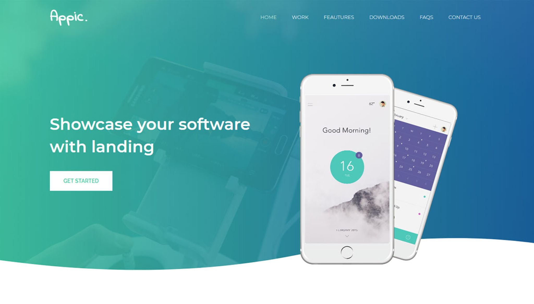 Appic Creative Mobile App Landing Page Template 66212