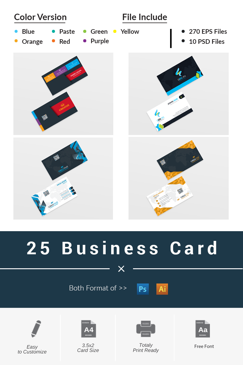 25 Business Card Bundle #66249