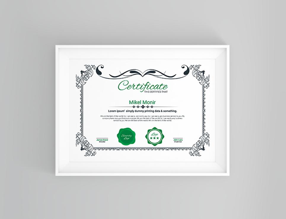 Zertifikat-Vorlage #66253 für Graphics