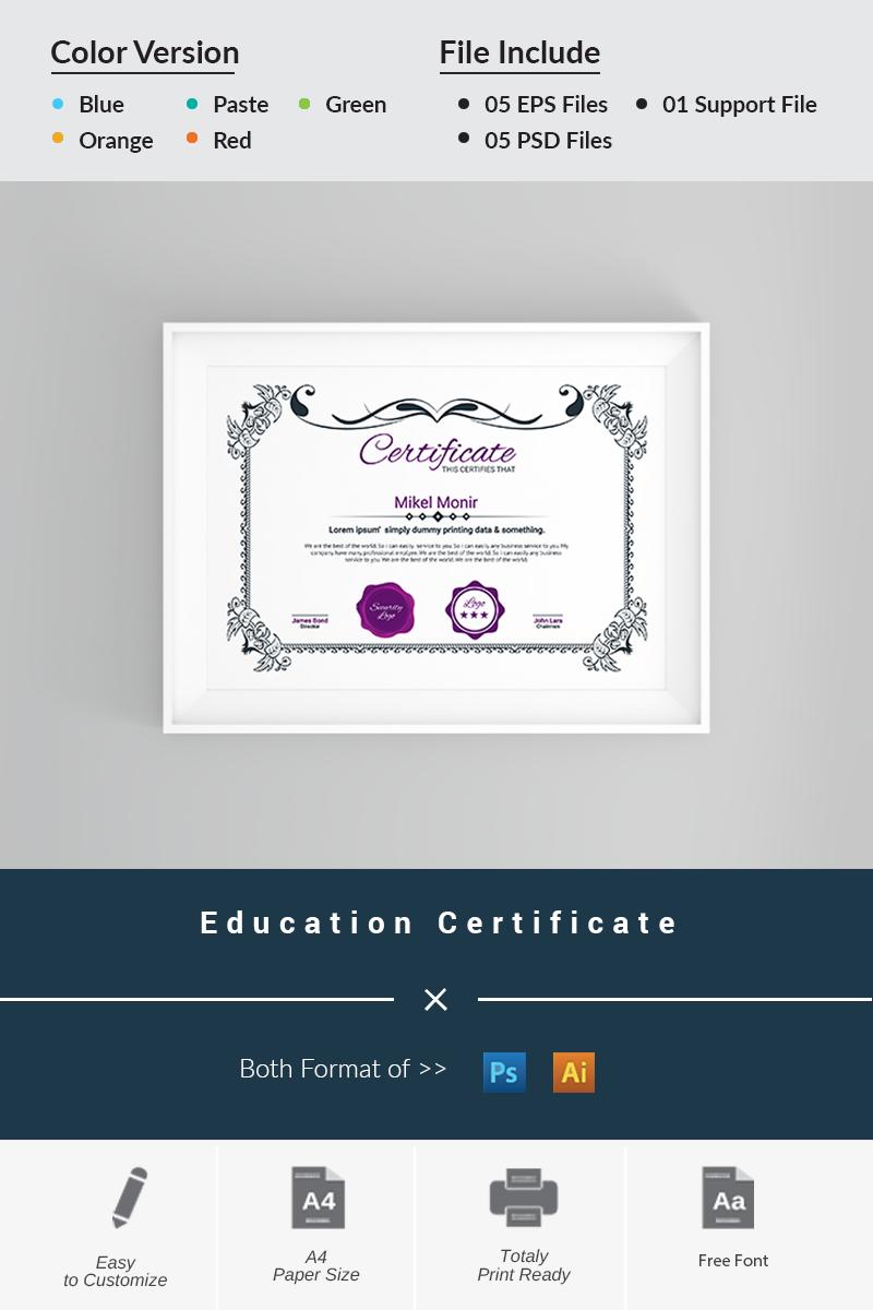 Zertifikat-Vorlage #66253 für Colleges und Universitäten