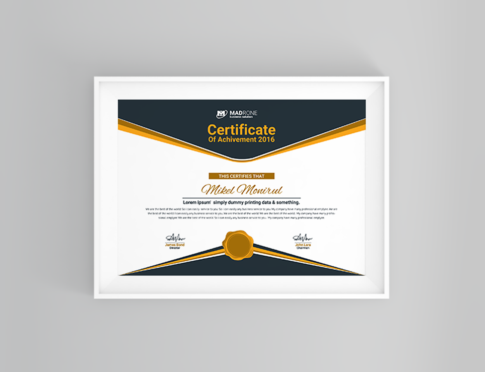 Computer Training Certificate Template #66277