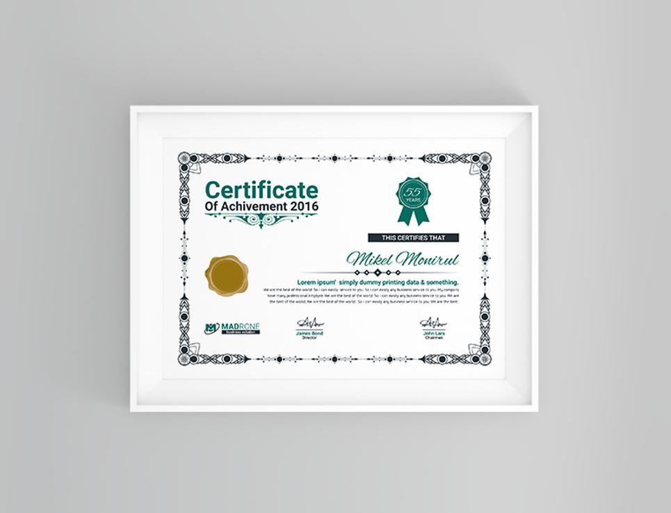 Zertifikat-Vorlage #66276 für Büro