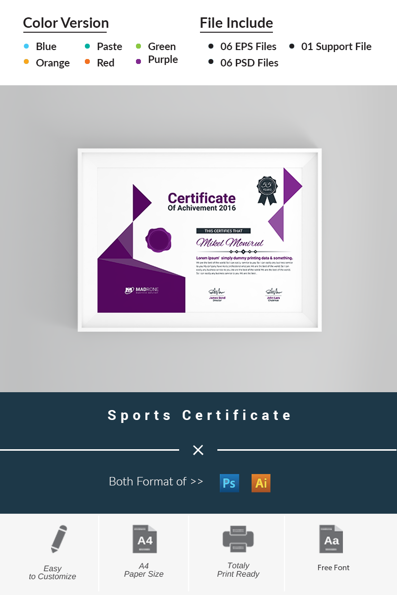Sports certificate template 66293 yelopaper Images