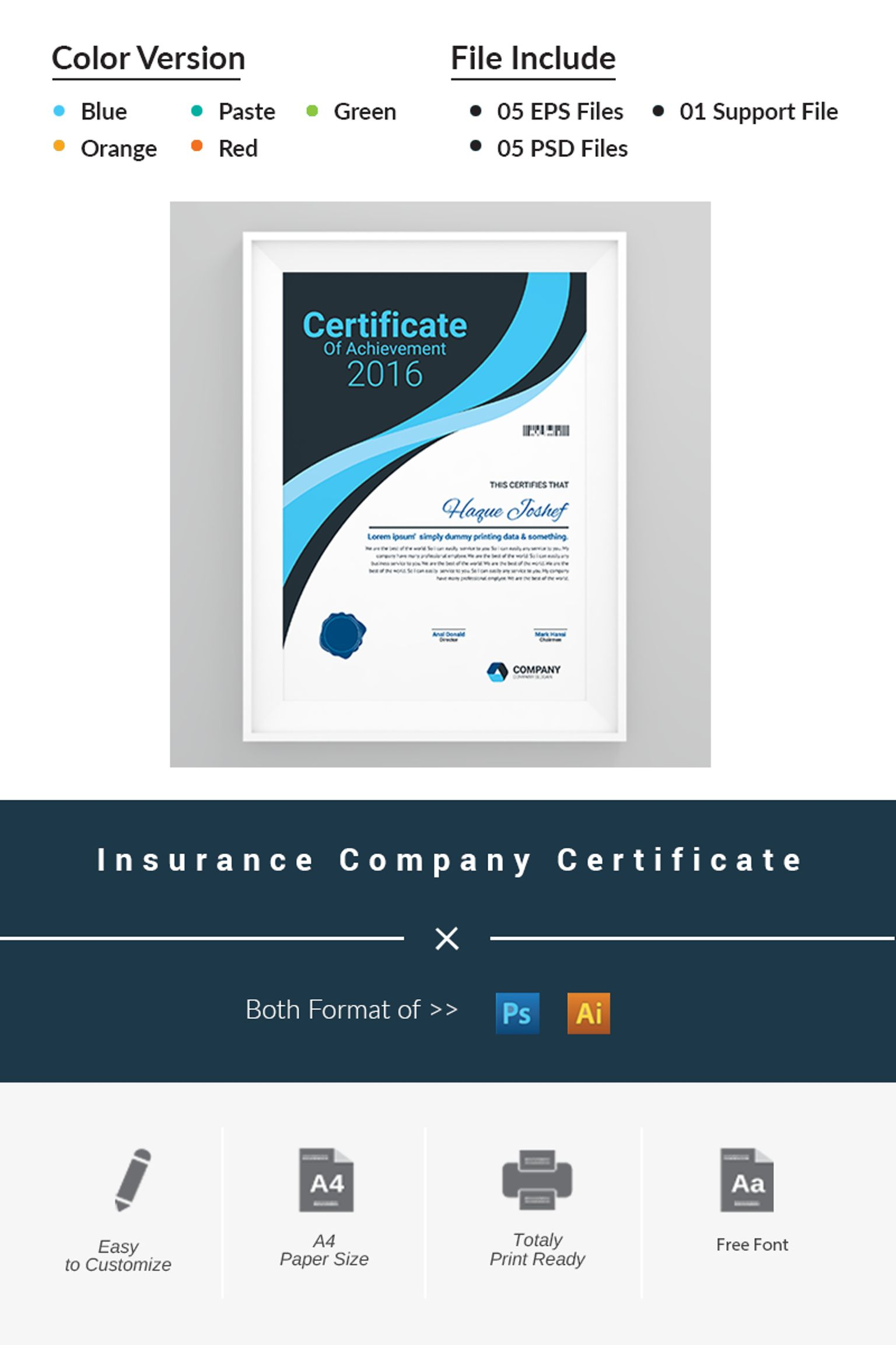 Insurance company certificate template 66464 insurance company certificate template big screenshot yadclub Image collections
