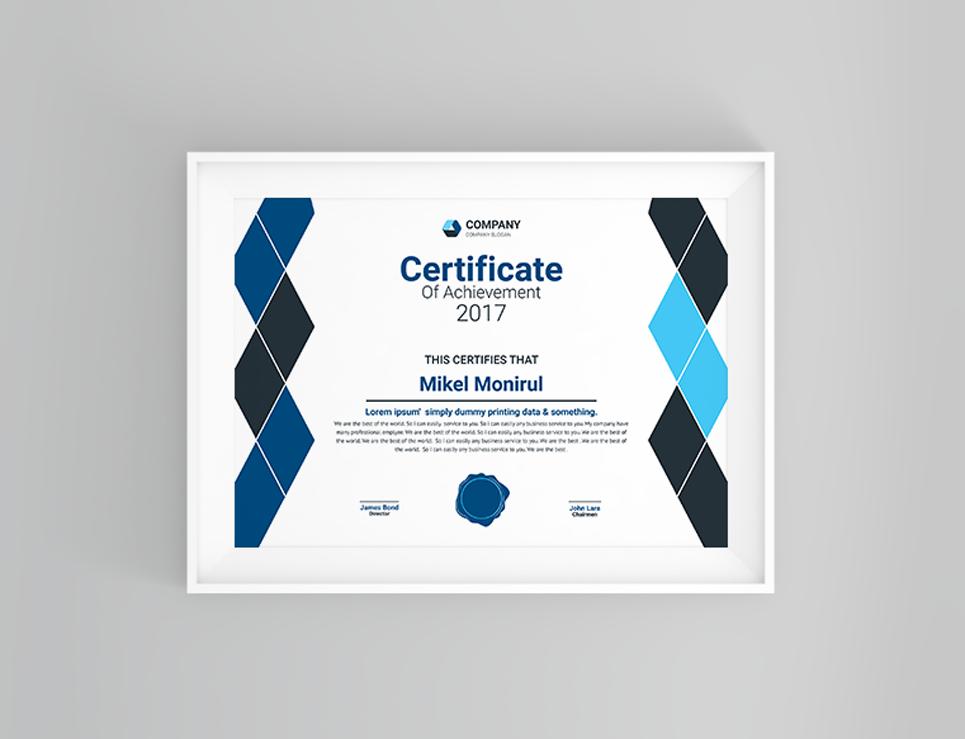 Zertifikat-Vorlage #66474 für Büro
