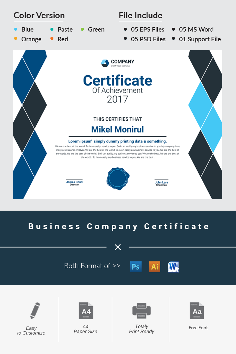 Business company certificate template 66474 business company certificate template big screenshot xflitez Images