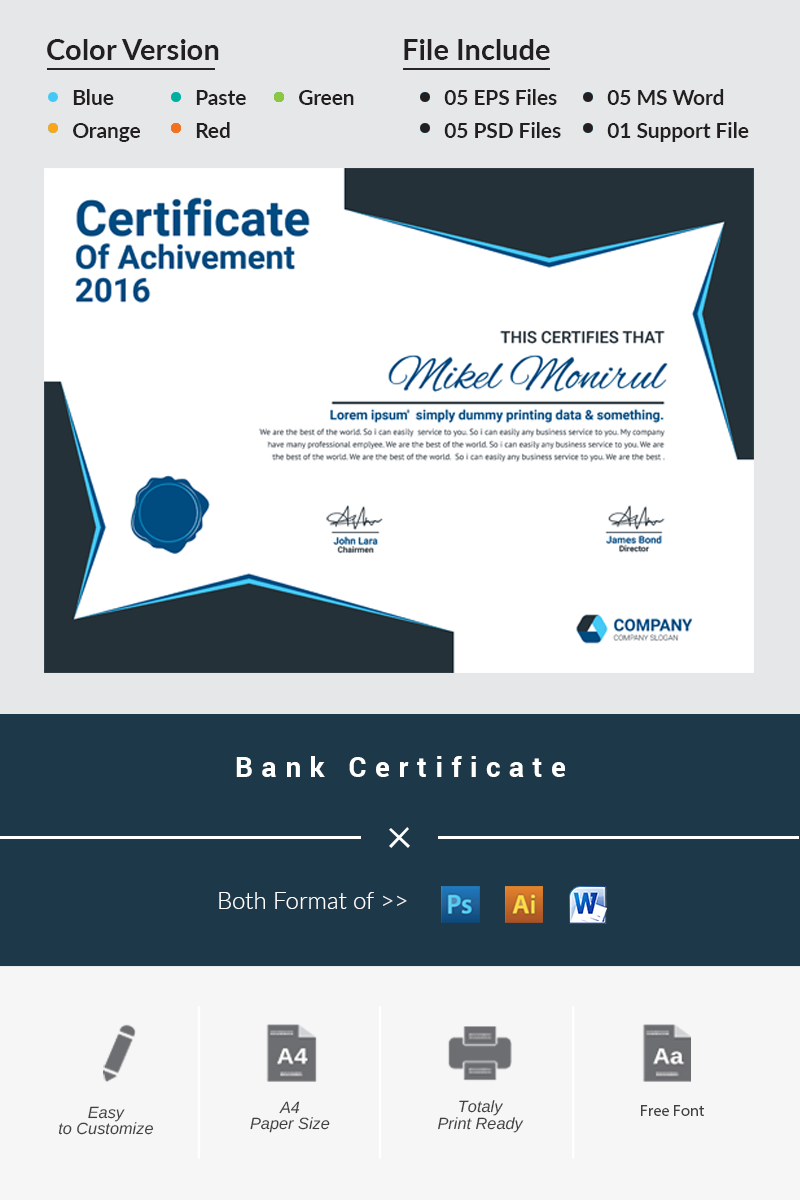 Bank certificate template 66487 bank certificate template yadclub Image collections