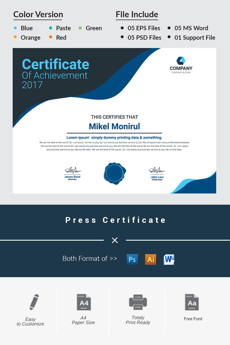 Press certificate template 66496 yadclub Gallery