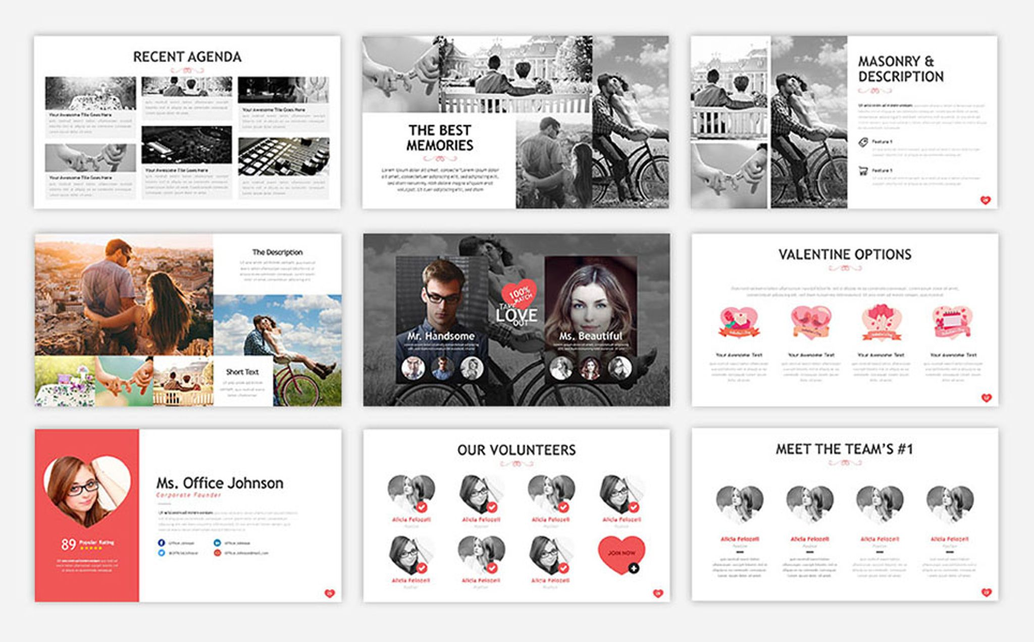 Sweet Valentine PowerPoint Template #67188