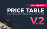 "PowerPoint Vorlage namens ""Price Table  V2 -"""