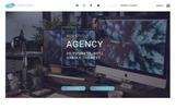 "PSD Vorlage namens ""Landing page - Agency"""