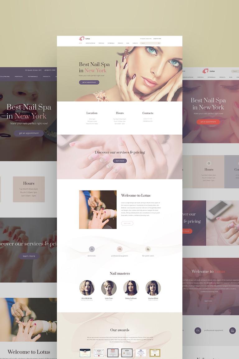 Lotus Nail Salon Ready-made Website #64714