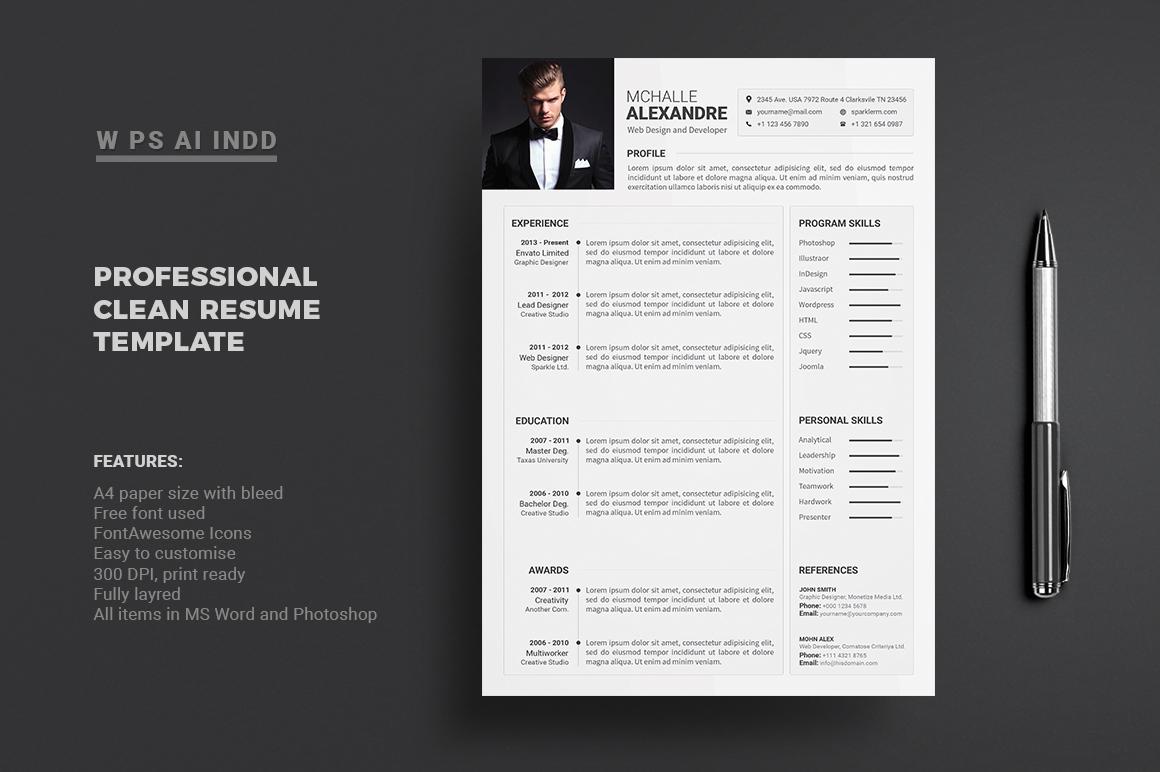 Resume - Mchalle Alexandr Resume Template #66275