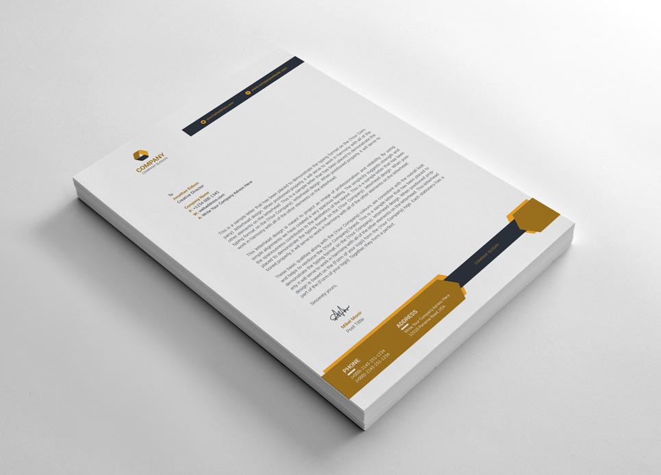 Graphic Letterhead Corporate Identity Template #66314
