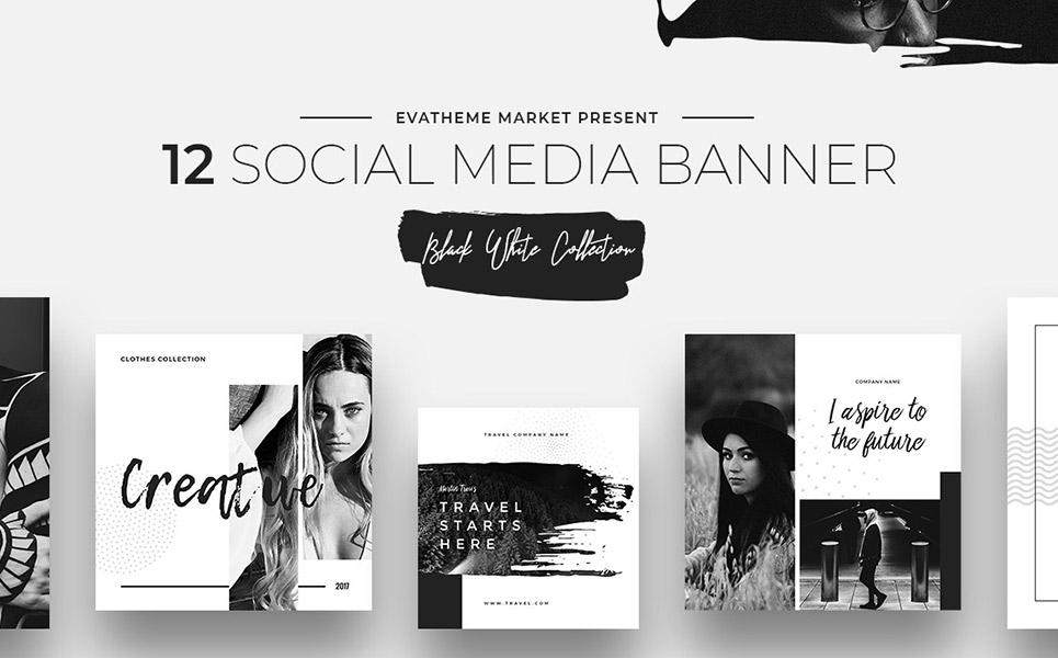 Black Amp White Social Media Designs Social Media 66307