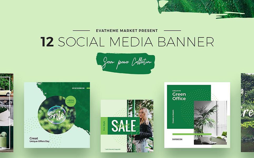 green peace social media designs psd template  66956