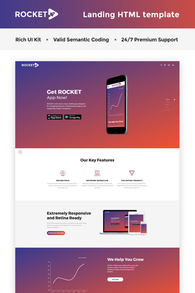 Business landing page html5 template proapp html5 page landing page template new screenshots big maxwellsz