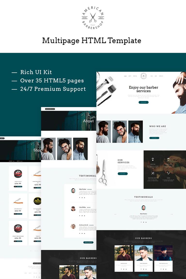 Website Vorlage #66269 für Friseursalon