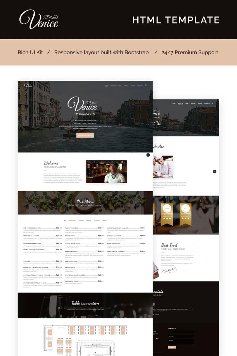 Plantilla Web #66273 para Sitio de Cafeterías y Restaurantes