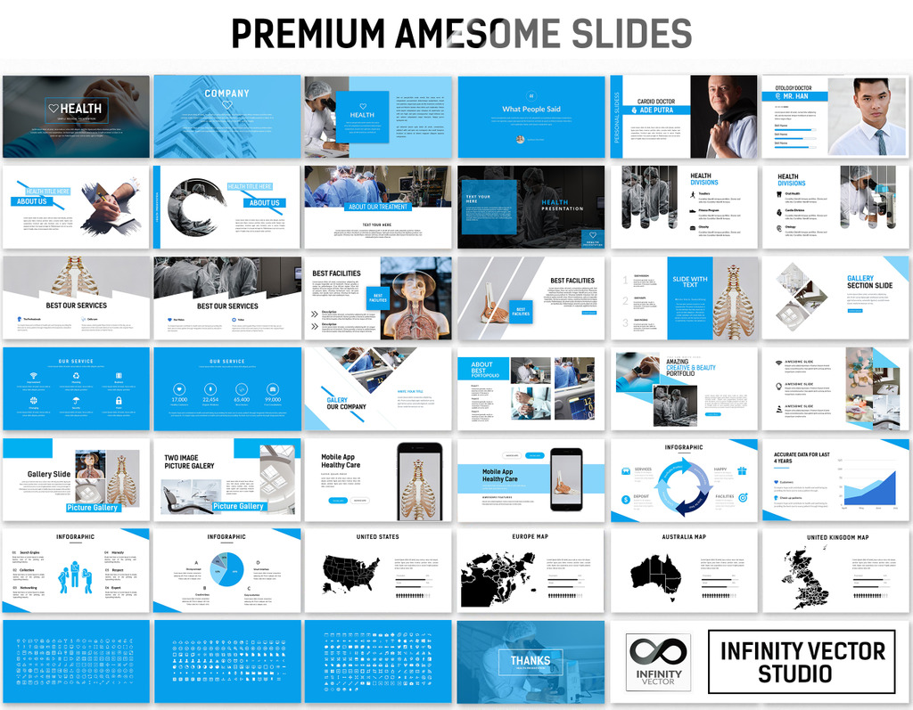 health medical powerpoint template 66295