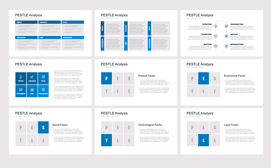 Pest Pestel Pestle For Powerpoint Template