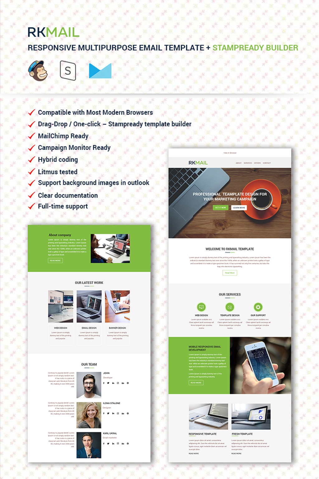 Newsletter Templates Newsletter Email Templates TemplateMonster - Drag and drop mailchimp templates