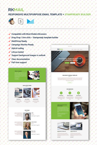 204 Newsletter Templates Newsletter Email Templates Templatemonster