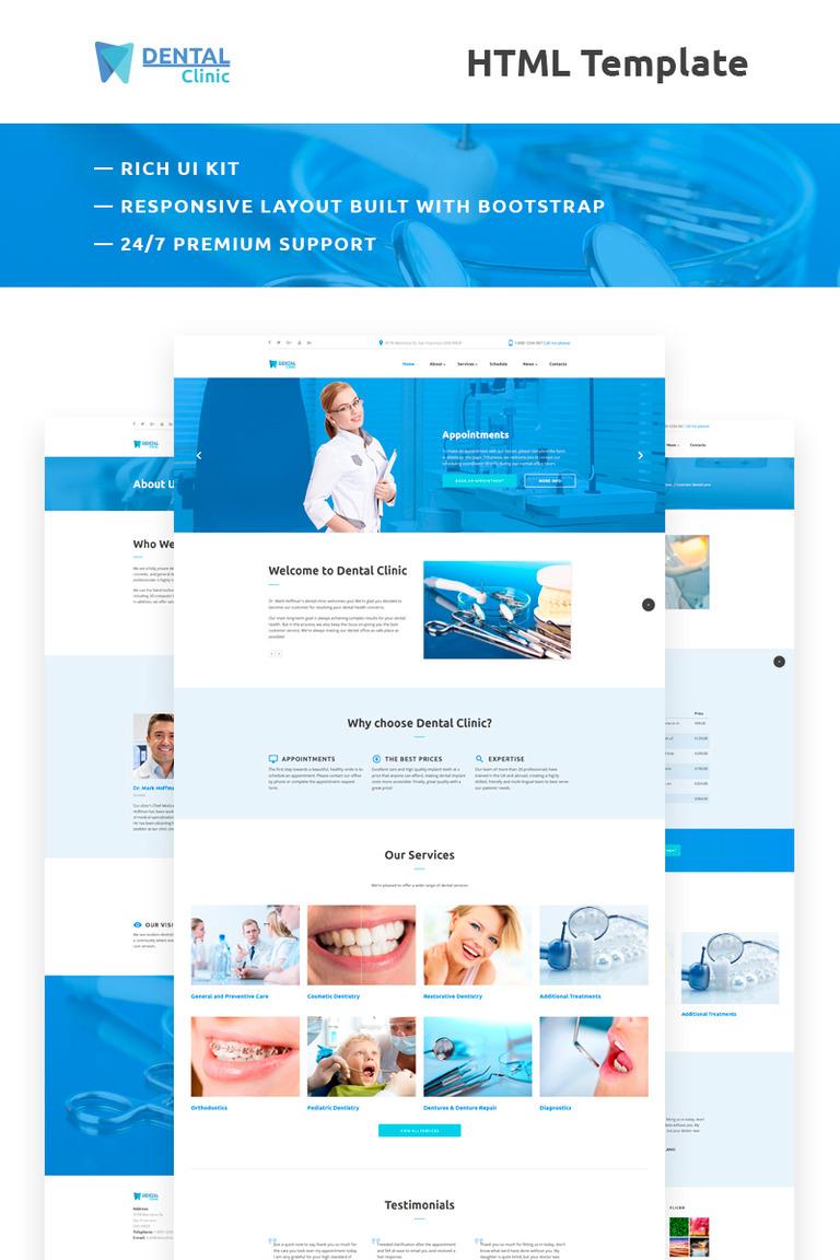 Website Vorlage #66298 für Zahnmedizin