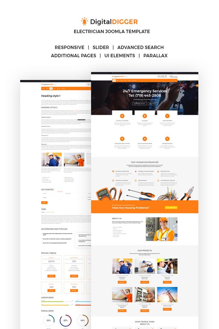 Electrical services template digitaldigger electrical services joomla template new screenshots big maxwellsz