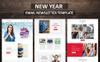 New Year Email Newsletter Template Big Screenshot