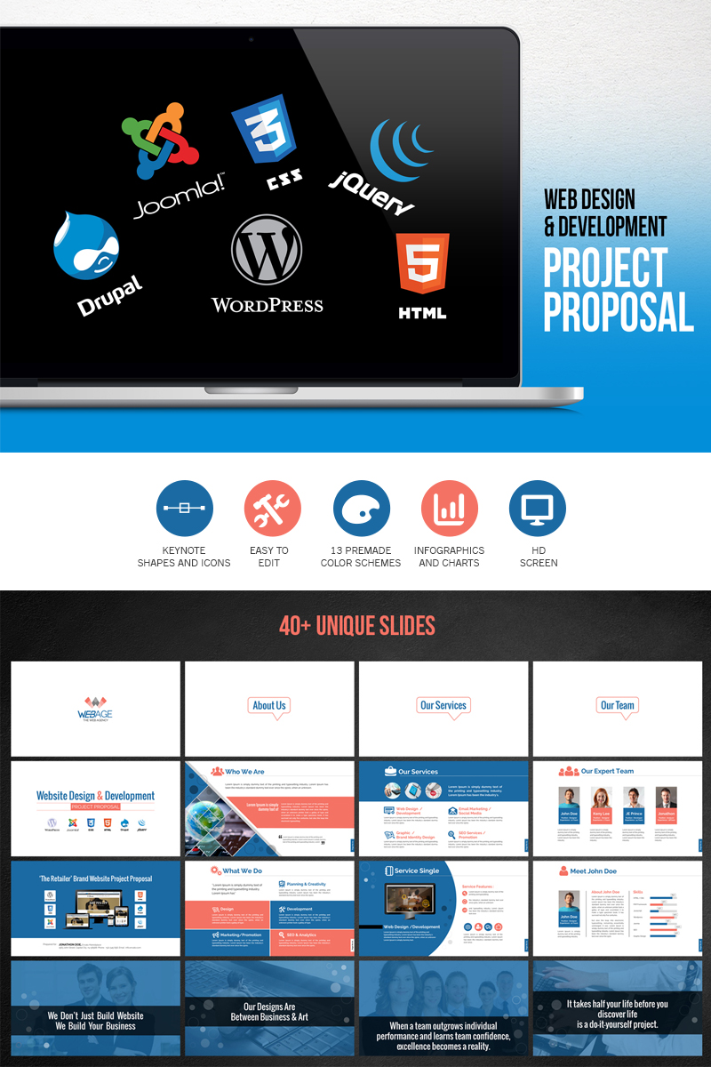 Web design development project proposal powerpoint template 66476 web design development project proposal powerpoint template big screenshot toneelgroepblik Choice Image