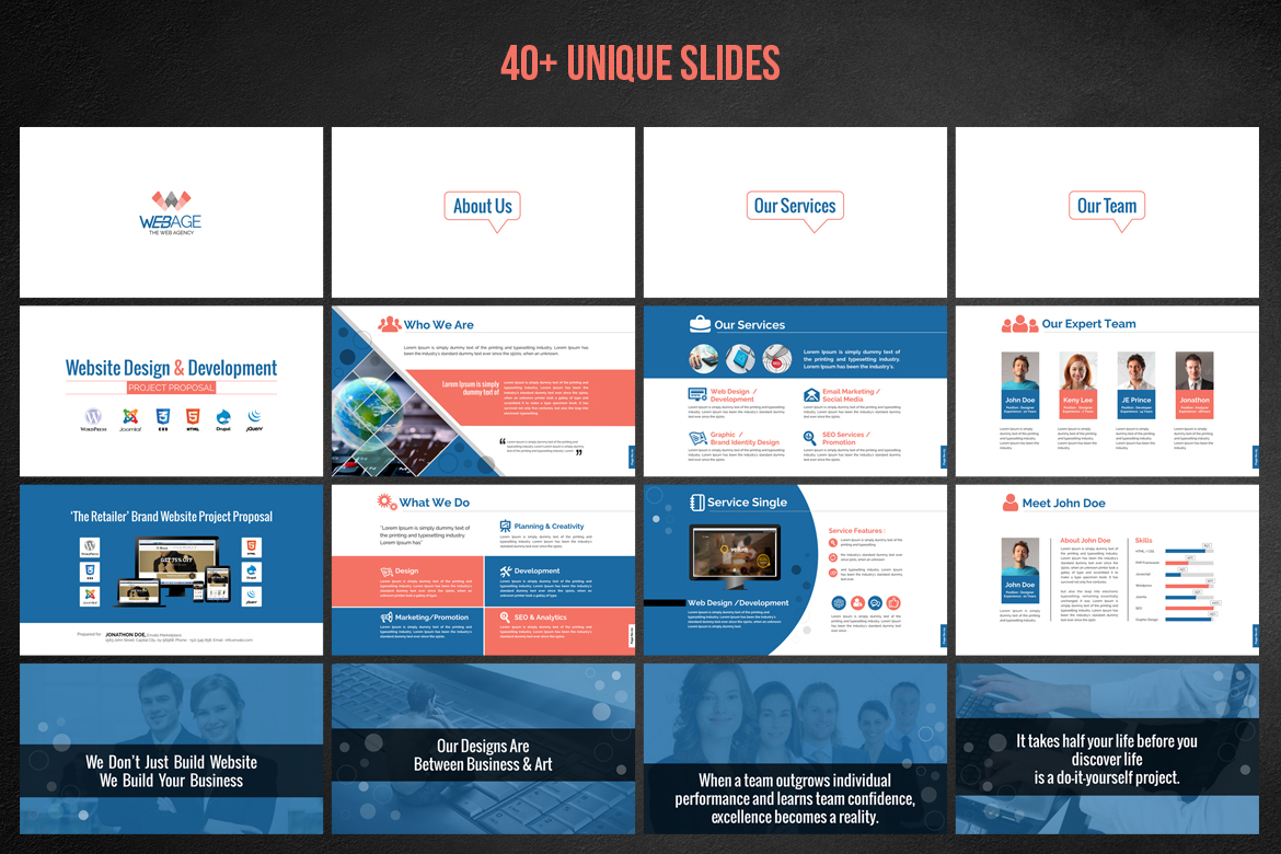 Web design development project proposal powerpoint template 66476 zoom in toneelgroepblik