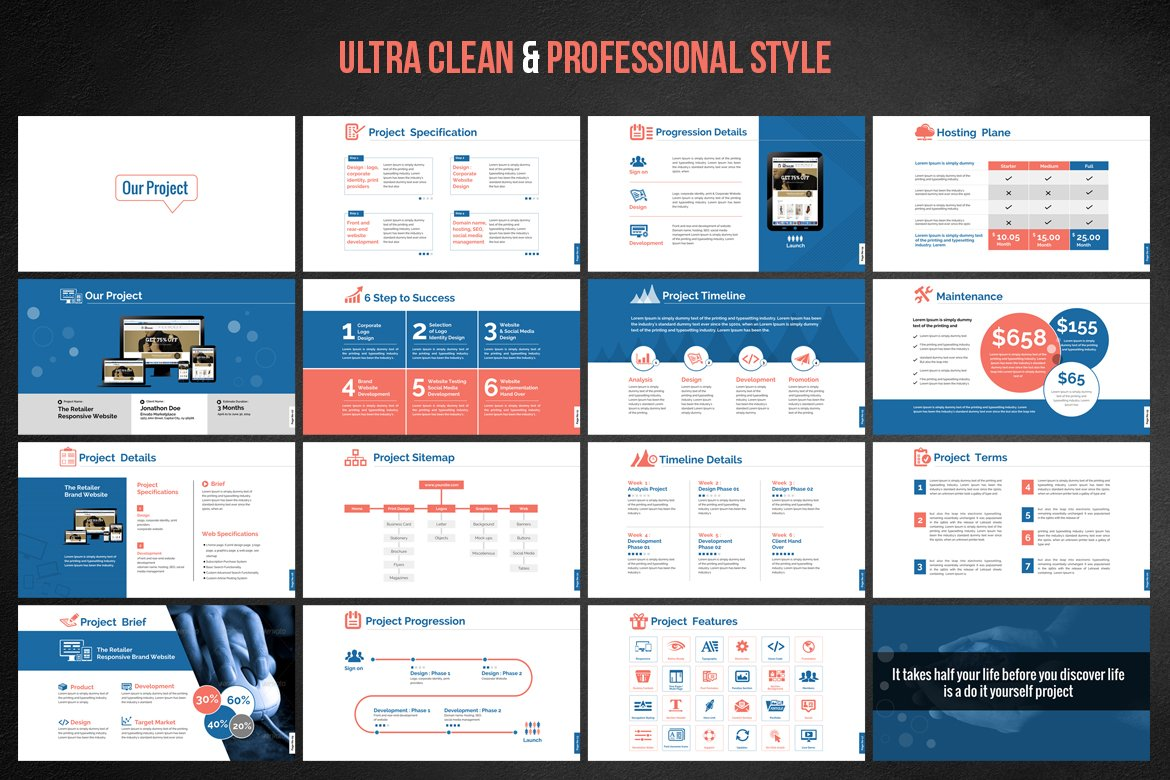 web design development project proposal powerpoint template 66476