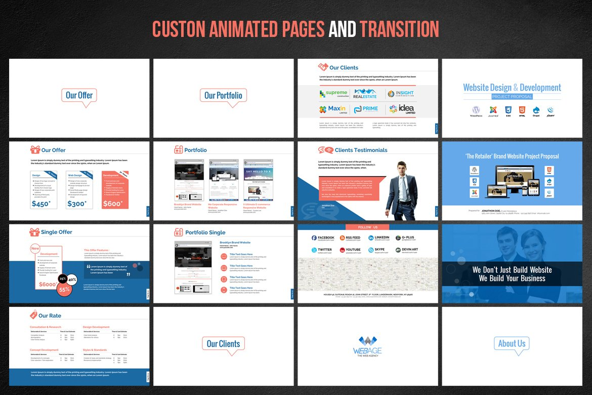 Awesome development project proposal template pictures for Rfp presentation template