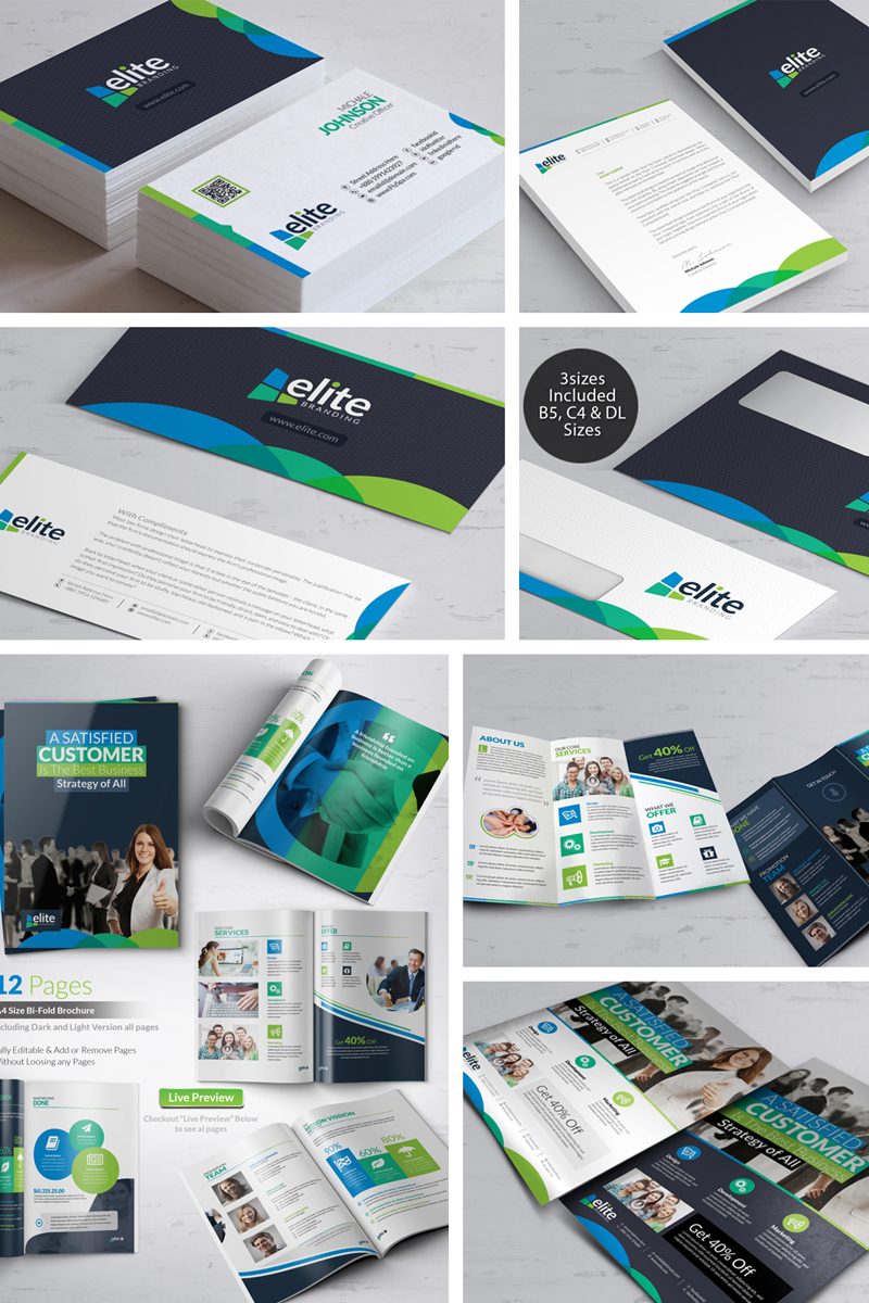 Business Branding Bundle Corporate Identity Template #66478