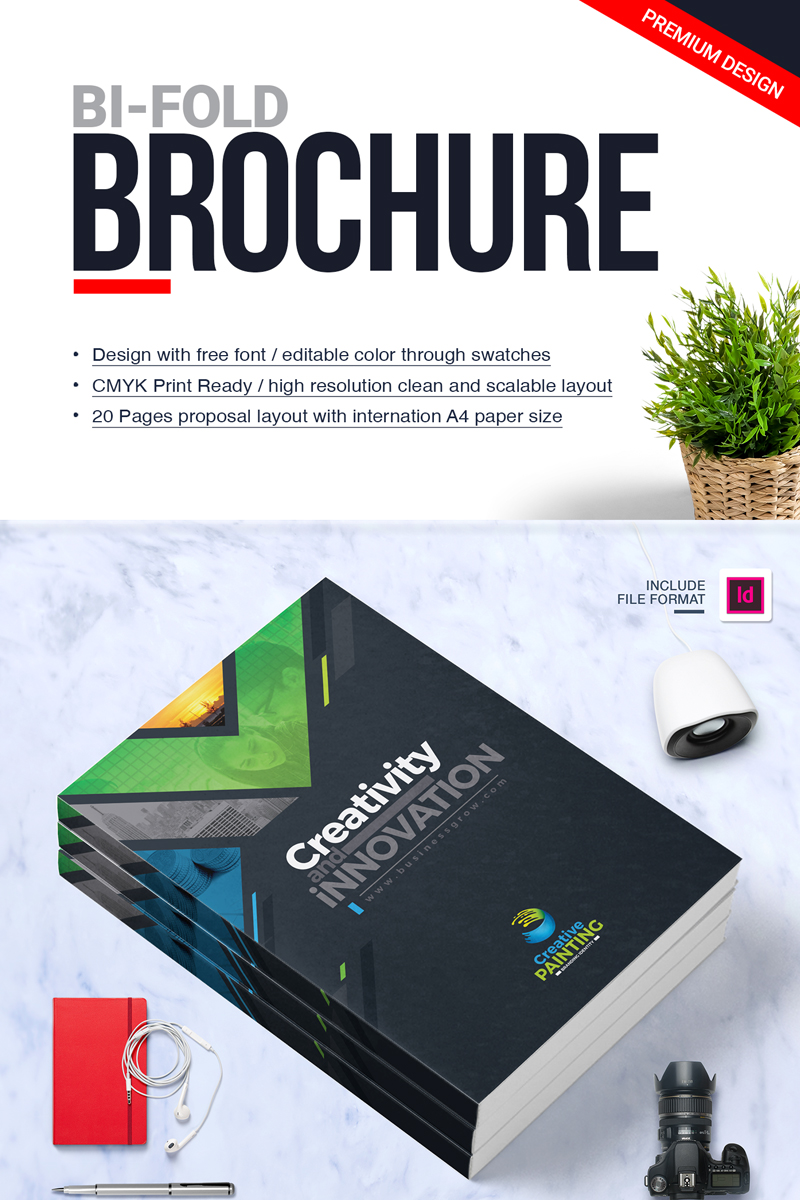 Health Calendar Design : Business brochure design template indesign